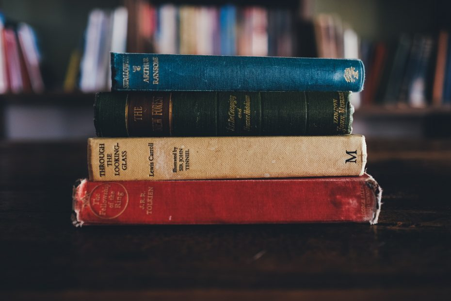 Photo of four old classic books